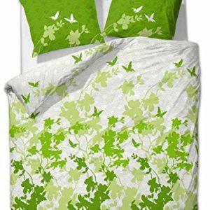 Schöne Bettwäsche aus Renforcé - Schmetterlinge grün 135x200 von Etérea