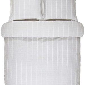 Kuschelige Bettwäsche aus Satin - grau 155x220 von Marc O'Polo HOME