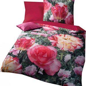 Kuschelige Bettwäsche aus Satin - rosa 135x200 von Kaeppel