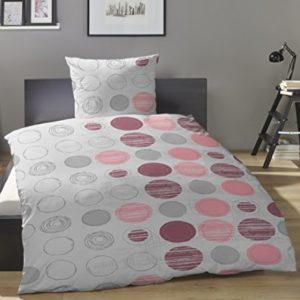 Schöne Bettwäsche aus Biber - grau 135x200 von Primera