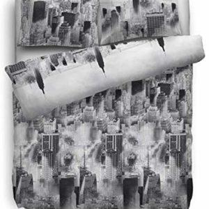 Kuschelige Bettwäsche aus Flanell - grau 135x200 von HNL