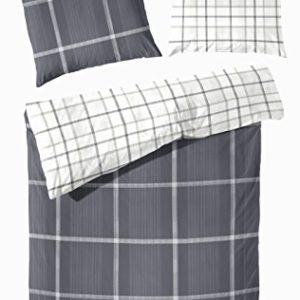 Schöne Bettwäsche aus Flanell - grau 135x200 von Primera