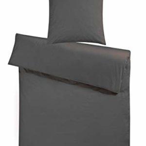 Hübsche Bettwäsche aus Flanell - grau 200x220 von Carpe Sonno