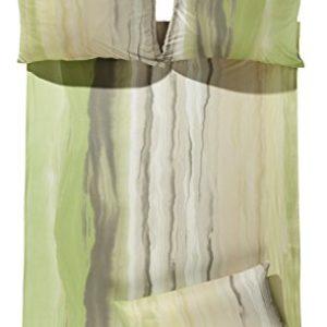 Hübsche Bettwäsche aus Jersey - grün 155x220 von Estella
