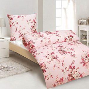 Schöne Bettwäsche aus Microfaser - Rosen rosa 135x200 von daspasstgut