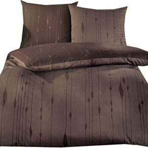 Hübsche Bettwäsche aus Satin - braun 155x220 von Kaeppel