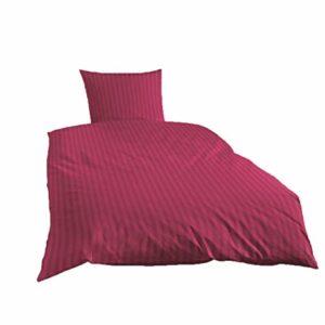 Hübsche Bettwäsche aus Satin - rot 135x200 von Primera