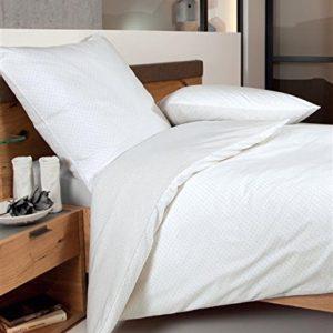Schöne Bettwäsche aus Biber - grau 135x200 von Janine