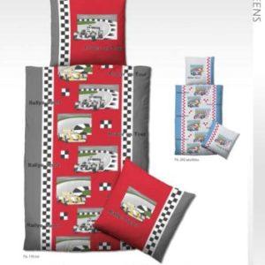 Hübsche Bettwäsche aus Biber - rot 135x200 von Biberna