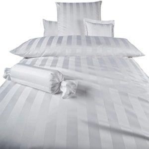 Hübsche Bettwäsche aus Damast - weiß 140x200 von Curt Bauer