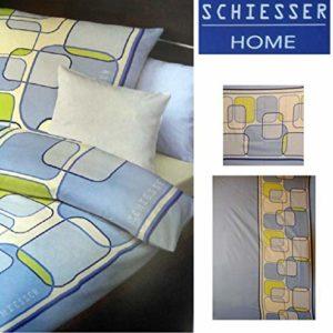 Schöne Bettwäsche aus Flanell - blau 135x200 von