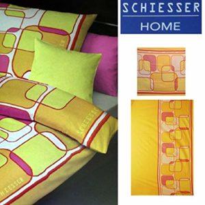 Traumhafte Bettwäsche aus Flanell - gelb 135x200 von