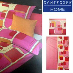 Traumhafte Bettwäsche aus Flanell - rosa 135x200 von
