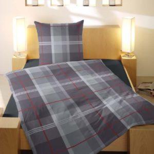 Hübsche Bettwäsche aus Flanell - rot 135x200 von