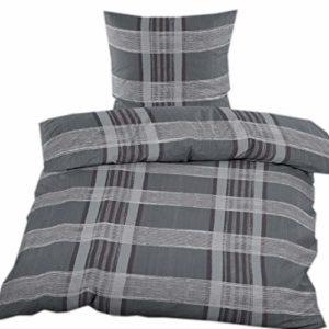 Hübsche Bettwäsche aus Fleece - schwarz 135x200 von KH-Haushaltshandel