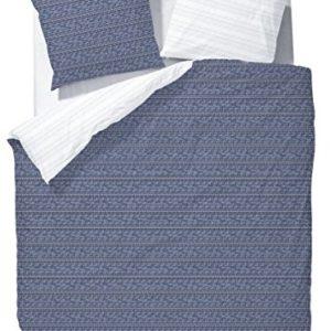 Schöne Bettwäsche aus Mako-Satin - blau 135x200