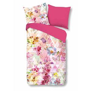 Traumhafte Bettwäsche aus Renforcé - rosa 135x200 von Good Morning!