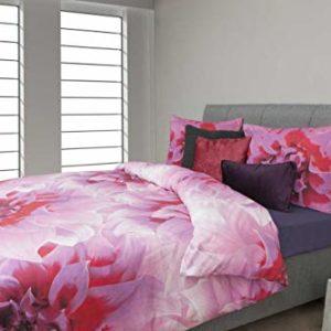 Traumhafte Bettwäsche aus Renforcé - rosa 135x200 von HNL