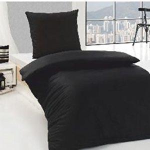 Kuschelige Bettwäsche aus Renforcé - schwarz 135x200 von Bettenpoint