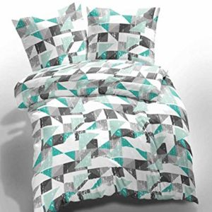 Traumhafte Bettwäsche aus Renforcé - türkis 135x200 von Etérea