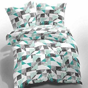 Kuschelige Bettwäsche aus Renforcé - türkis 155x220 von Etérea