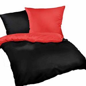Schöne Bettwäsche aus Satin - schwarz 200x200 von Leben-Schlafen
