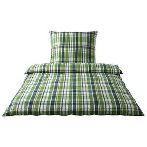 Hübsche Bettwäsche aus Seersucker - grün 135x200 von elegante