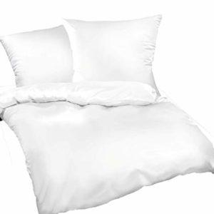 Kuschelige Bettwäsche aus Seersucker - weiß 135x200 von Leben-Schlafen