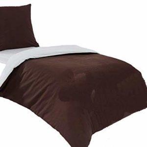 Kuschelige Bettwäsche aus Flanell - braun 155x200 von saleandmore