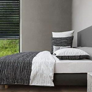 Traumhafte Bettwäsche aus Mako-Satin - schwarz 135x200 von HnL Living