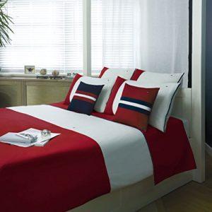 Kuschelige Bettwäsche aus Mako-Satin - weiß 135x200 von Tommy Hilfiger