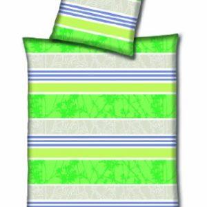 Kuschelige Bettwäsche aus Microfaser - grün 135x200 von Hahn Haustextilien