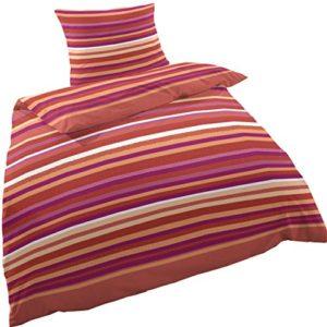 Hübsche Bettwäsche aus Perkal - rot 135x200 von Hahn Haustextilien
