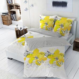 Schöne Bettwäsche aus Renforcé - gelb 155x220 von Betz