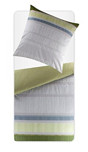 Schöne Bettwäsche aus Renforcé - grün 155x220 von Bugatti