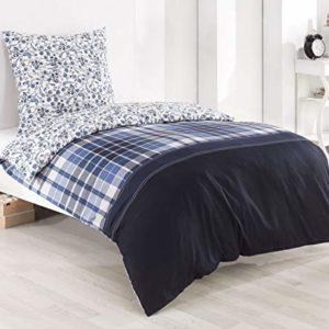 Hübsche Bettwäsche aus Renforcé - Rosen grau 155x220 von daspasstgut