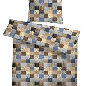 Kuschelige Bettwäsche aus Seersucker - blau 220x240 von Carpe Sonno