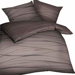Hübsche Bettwäsche aus Biber - braun 135x200 von Kaeppel
