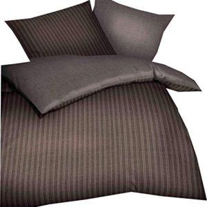 Traumhafte Bettwäsche aus Biber - braun 155x220 von Kaeppel