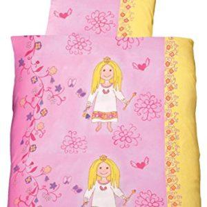 Kuschelige Bettwäsche aus Linon - Prinzessin rosa 100x135
