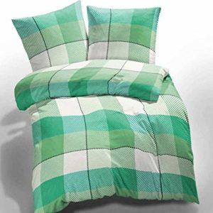 Kuschelige Bettwäsche aus Microfaser - grün 135x200 von Etérea