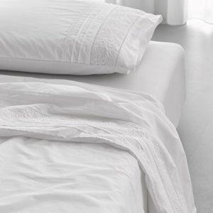 Traumhafte Bettwäsche aus Perkal - weiß 135x200 von Essenza