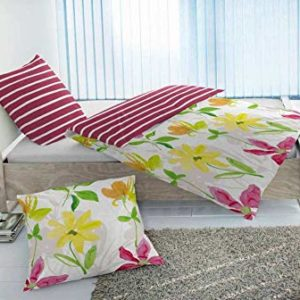Kuschelige Bettwäsche aus Renforcé - rot 135x200 von Hahn Haustextilien