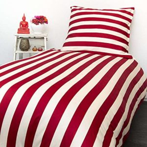Traumhafte Bettwäsche aus Satin - rot 135x200 von home