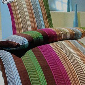 Traumhafte Bettwäsche aus Seersucker - grau 155x220 von KH-Haushaltshandel