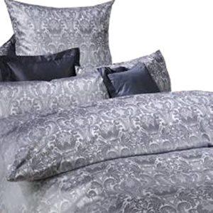 Kuschelige Bettwäsche aus Damast - grau 135x200 von Curt Bauer