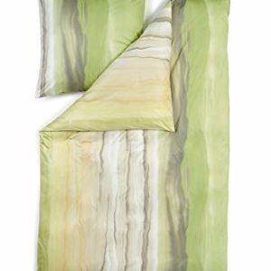 Hübsche Bettwäsche aus Jersey - grün 135x200 von Estella