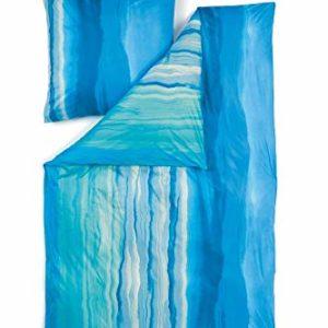 Kuschelige Bettwäsche aus Jersey - türkis 135x200 von Estella