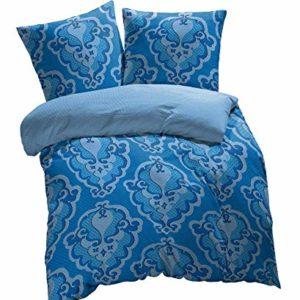 Kuschelige Bettwäsche aus Renforcé - blau 155x220 von Etérea