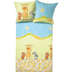 Hübsche Bettwäsche aus Renforcé - gelb 135x200 von Kinderbutt